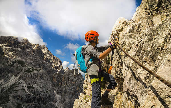 Fixed rope routes Dolomites